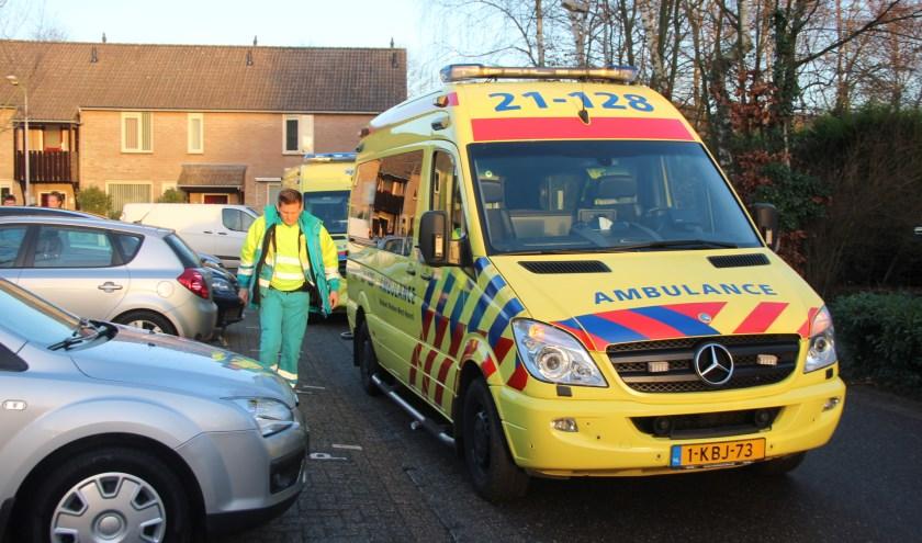 Vrouw gewond na val van trap in woning aan de Merel in Boxmeer. (foto: SK-Media)