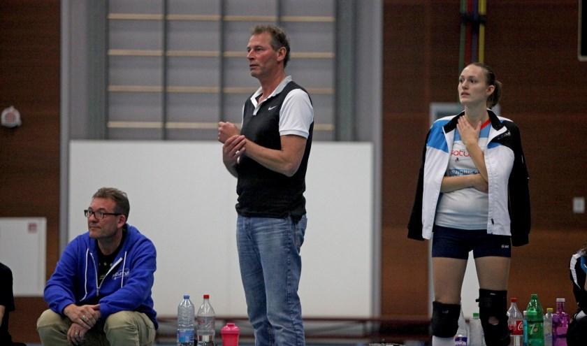 Geen winst coach Hubert van Hout van Saturnus (foto Peter Kuijpers)
