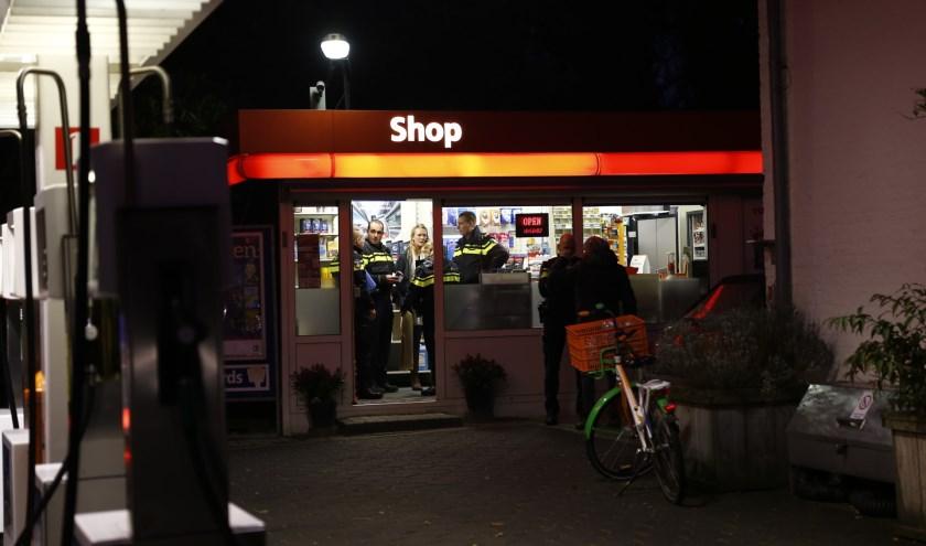 Het Total-tankstation aan 't Zand in Cuijk werd donderdag overvallen. (foto: SK-Media)