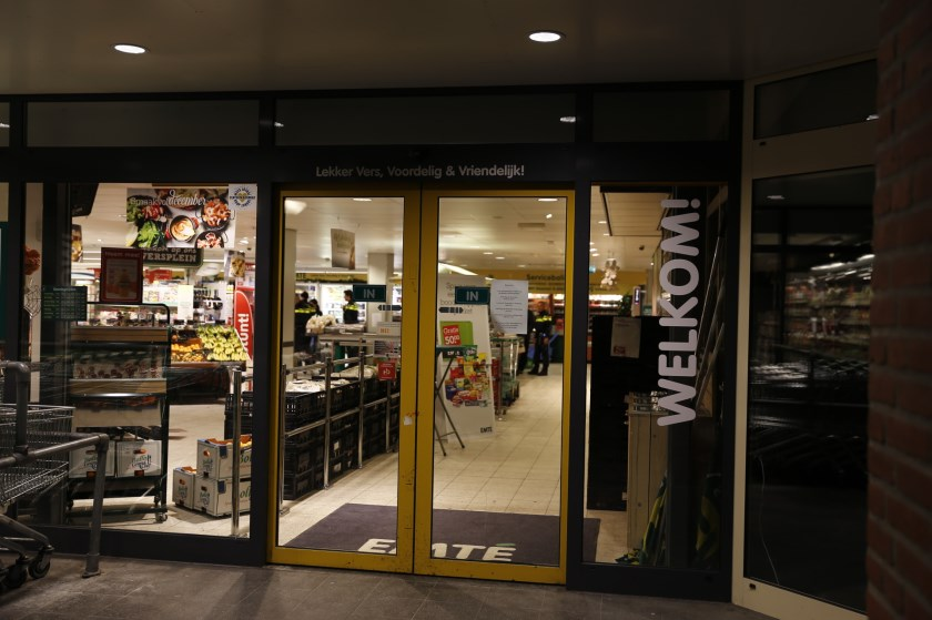 Emté-supermarkt in Boxmeer overvallen. (foto: SK-Media)