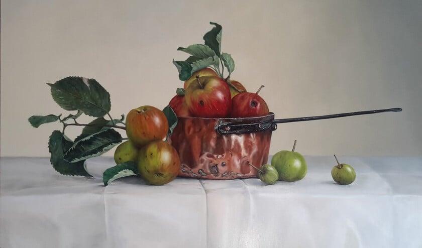 'Appels in koperen pan' van Pieter van Bernebeek.