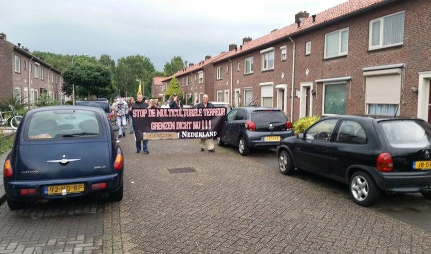 Demonstratie. (Foto: Twitter Daan ter Mors)
