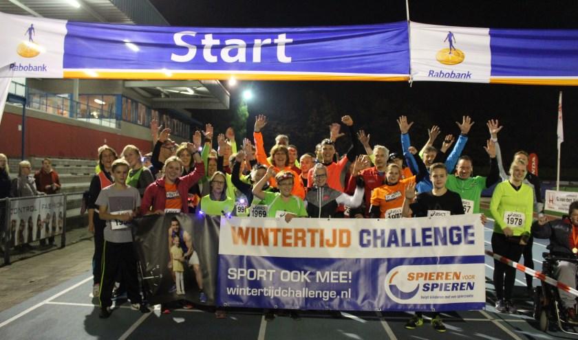 De Keien Atletiek doet mee met de Wintertijd Challenge.