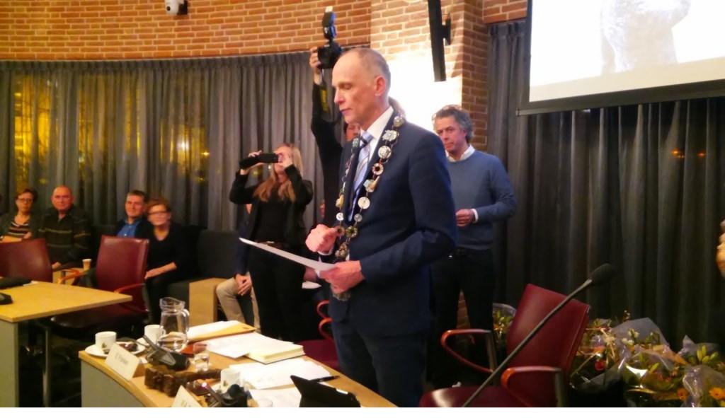 Burgemeester Marcel Fränzel.   © Kliknieuws Veghel