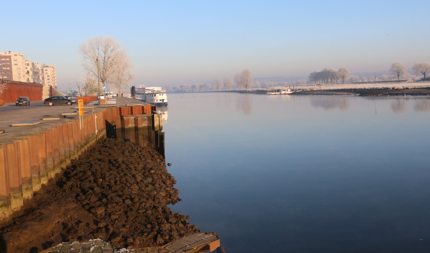 D66 Cuijk: rond archeologisch onderzoek bij loswal nu af. (archieffoto: SK-Media)