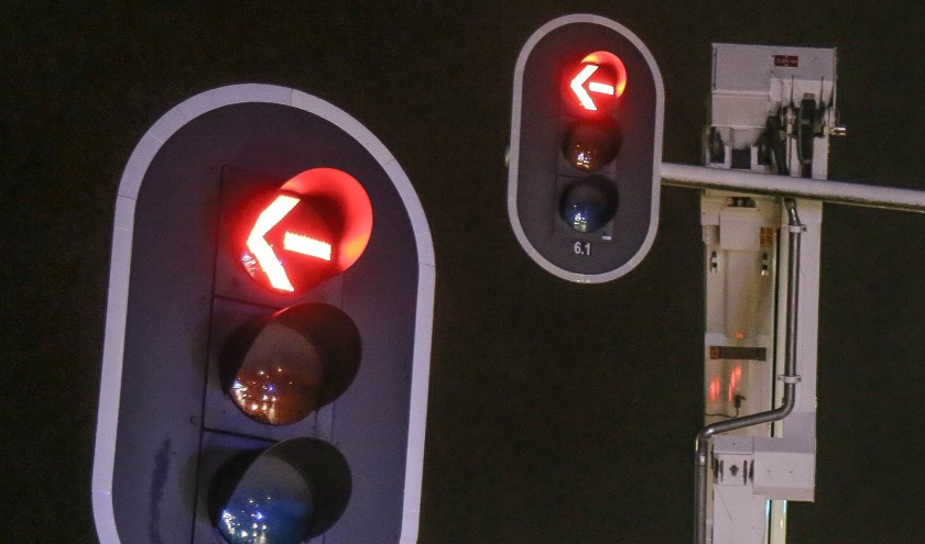 Het stoplicht hoeft niet langer meer gebruikt te worden in Odiliapeel.