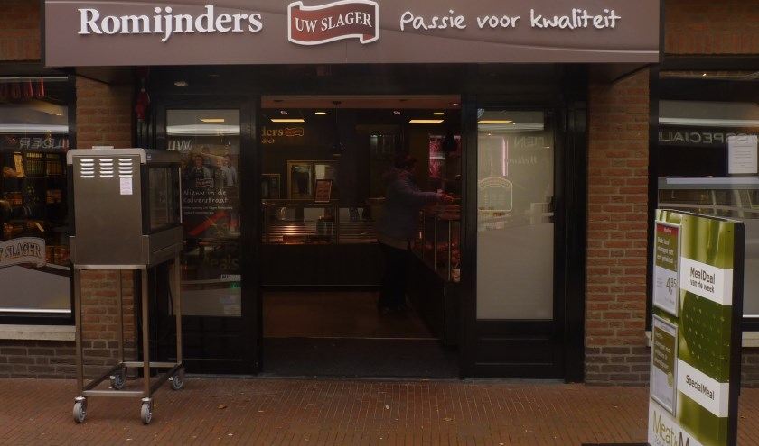 Slagerij Romijnders is naar Kalverstraat 9 verhuisd.