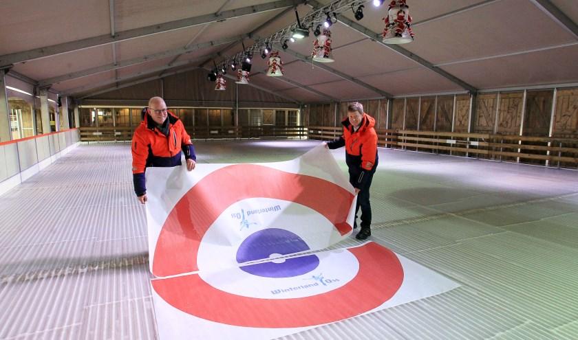 Peter Zegers en Joris Teulings van de organisatie van Winterland Oss.