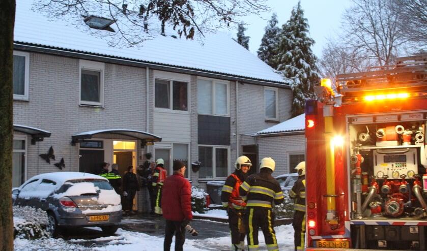 De brand was snel onder controle (Foto's Maickel keijzers/Hendriks multimedia)