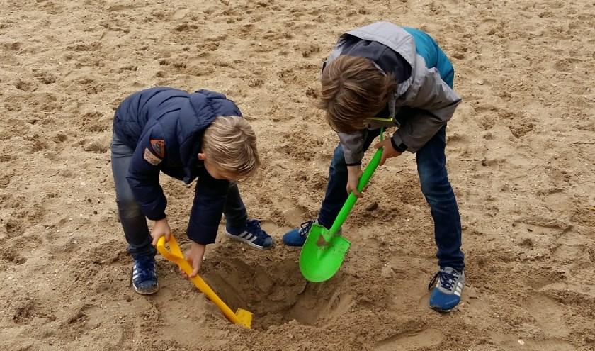 Kinderen kunnen aan de hand van een schatkaart op zoek naar de (verborgen) schat van Kiste Trui. (foto: RBT KAN)