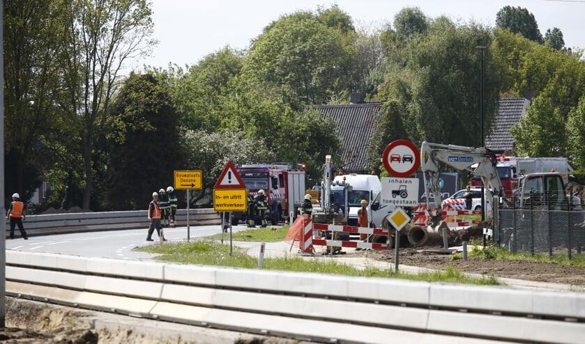 De werkzaamheden aan de N264 bij Haps zijn in volle gang. (foto: SK-Media)