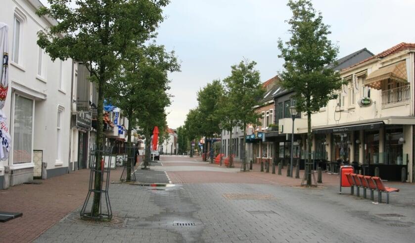 De Grotestraat in Cuijk waar de mishandeling plaatsvond.