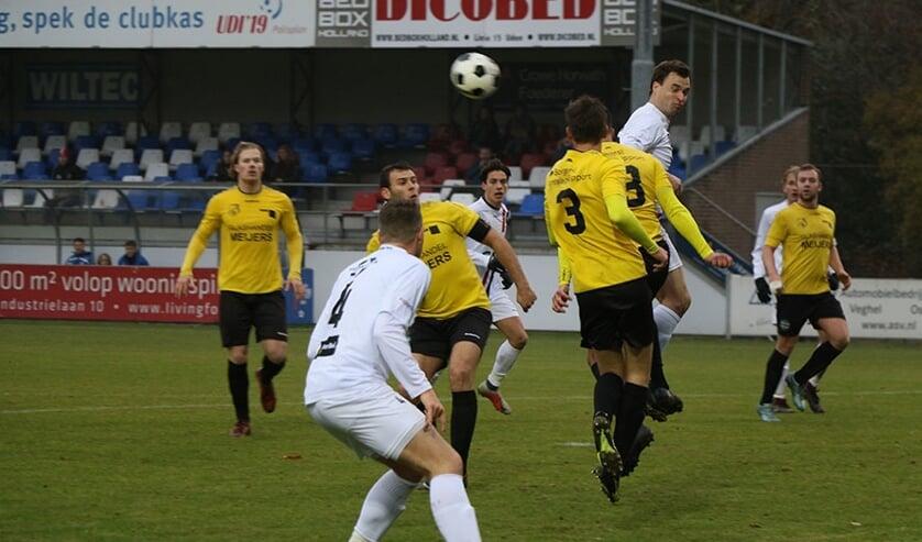 <p>Wedstrijdbeeld uit UDI&#39;19-SV Meerssen in het seizoen 2018-2019.&nbsp;</p>