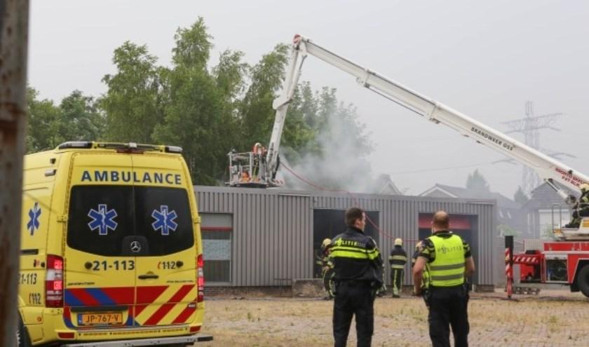 De brand in de Habsburgstraat. (Foto: Maickel Keijzers / Hendriks MultiMedia)