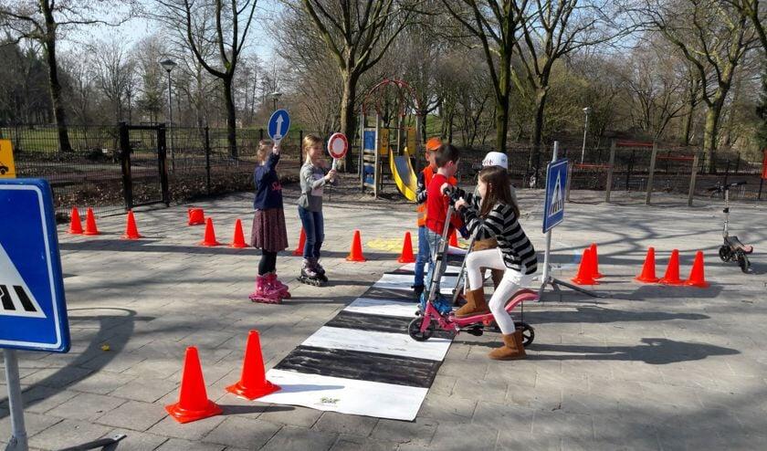 Kinderen van Basisschool de Palster werkten deze week aan verkeersactiviteiten