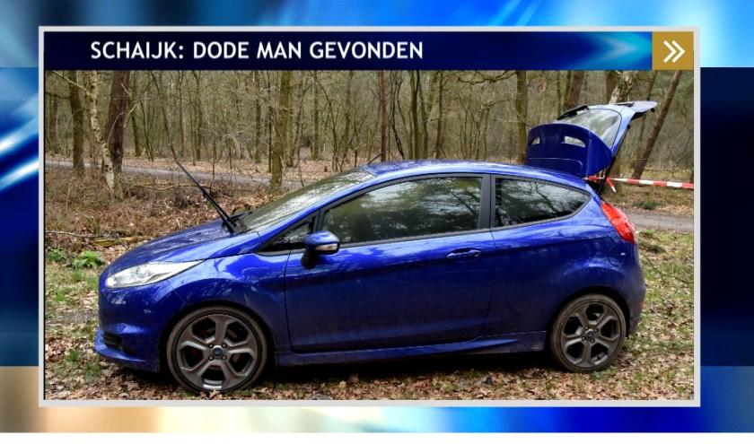 De aangetroffen auto. (Foto: www.politie.nl)