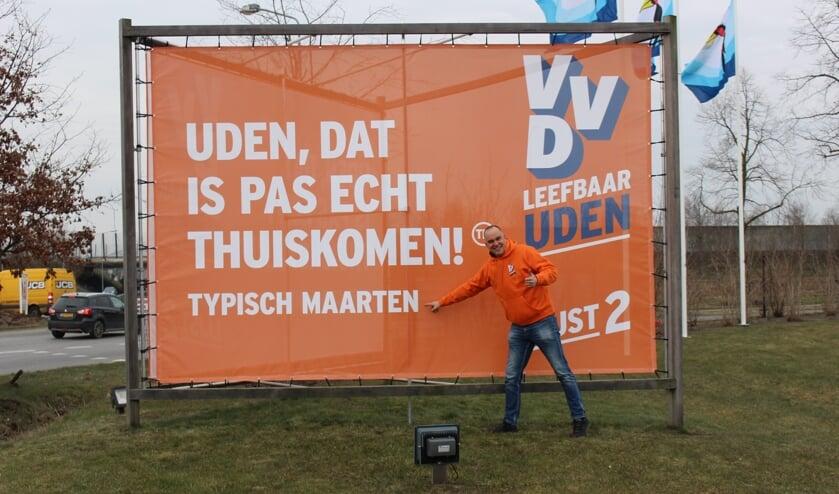 Maarten Prinssen bij het bord (foto: Temmie van Uden)