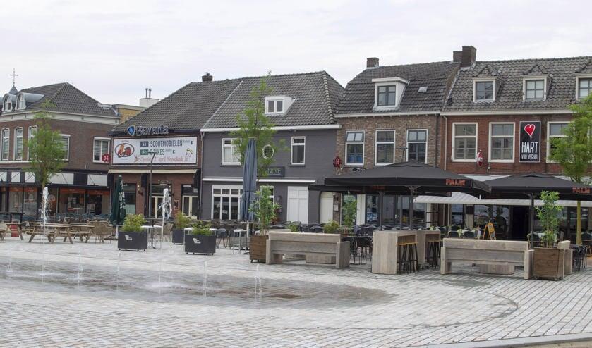 De Veghelse Markt in het centrum is onlangs compleet gerenoveerd.