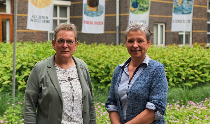 Zuster Gerda en Marieke.