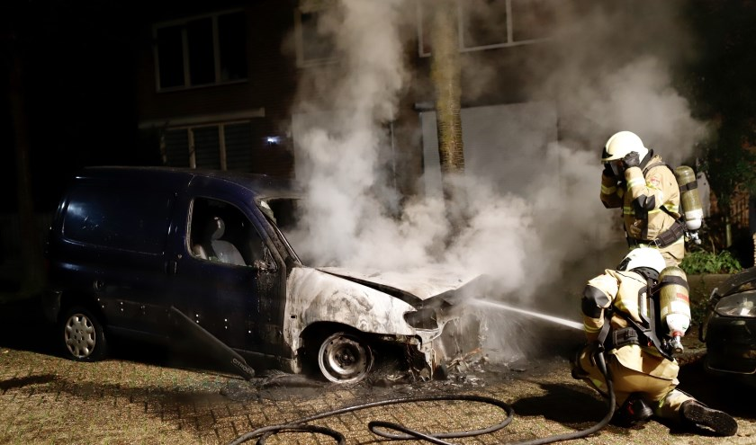 Auto uitgebrand in Grave.