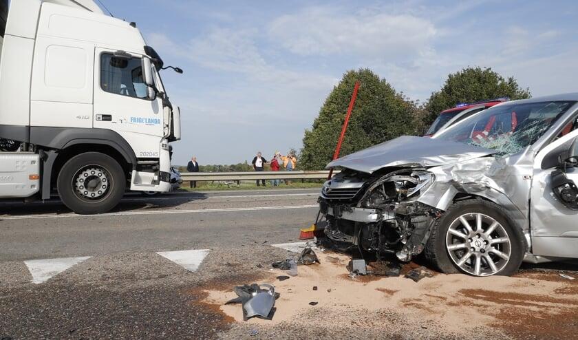 Vrouw gewond bij aanrijding op de Brabantweg in Gennep.