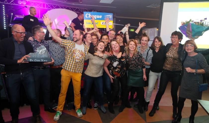 De winnaars van de Osse Kwis. (Foto: Hans van der Poel)