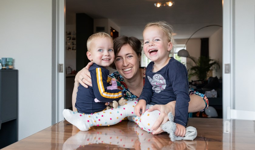 Anke met haar kinderen Robin en Timo.