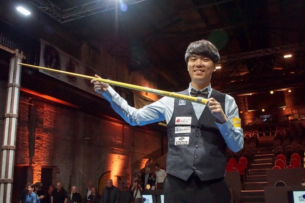 De 27-jarige Koreaan HaengJik Kim heeft zaterdag inVeghel de derde World Cup in zijn carrière gewonnen.  © Kliknieuws Veghel