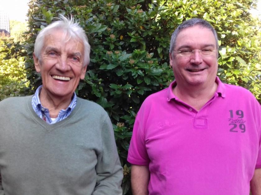 Hans Korsten uit Middelaar en Bert Jurgens uit Ottersum van het burgerplatform Nee tegen de Vloedgolf.