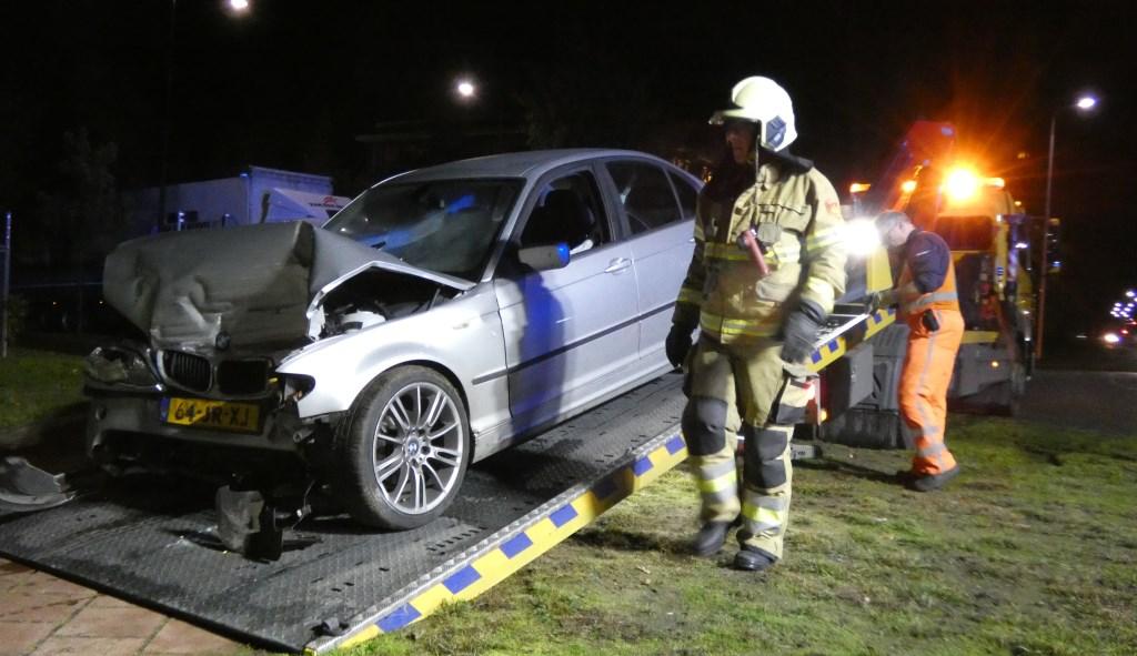 Automobilist ramt transformatorhuisje aan Kantsingel.  (Foto: Thomas)  © 112 Brabantnieuws