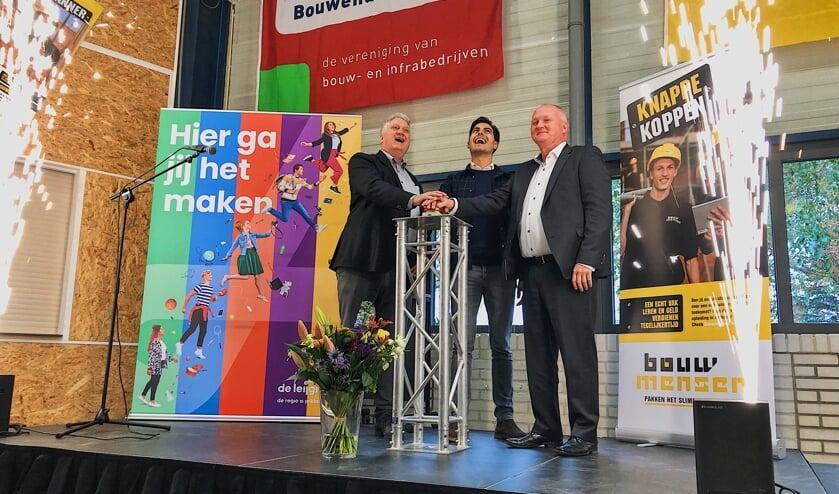 Peter Postma, Rob Jetten en Hans de Jong.