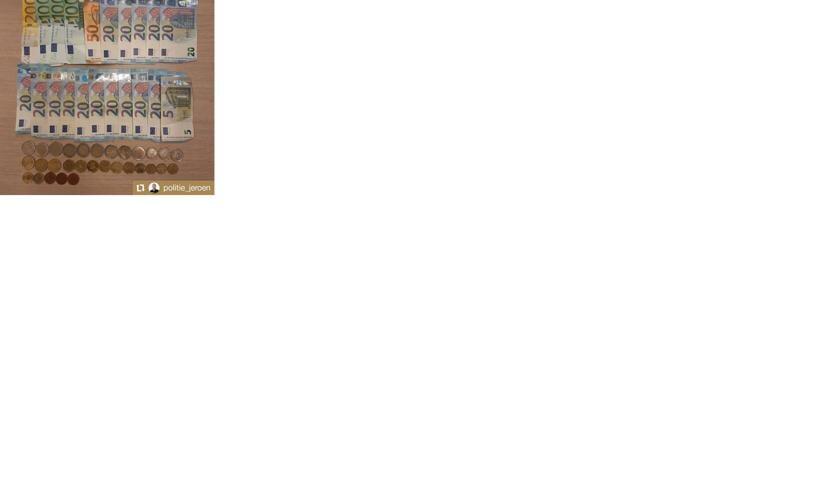 Een deel van het geld. (Foto: Politie_jeroen, Wijkagent Oss-Zuid)