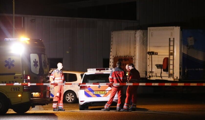 De hulpdiensten in Heeswijk-Dinther.
