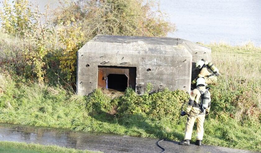 Brandje in kazemat in Cuijk snel geblust.