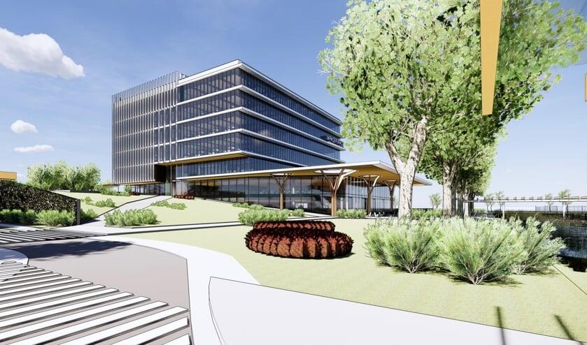 Het gebouw, zes kantoorverdiepingen hoog en 13.400 vierkante meter groot, gaat plaats bieden aan circa 800 medewerkers