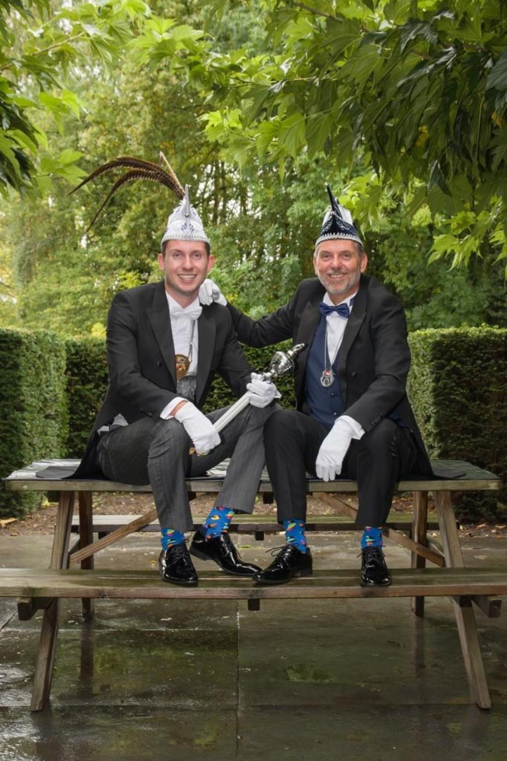 Prins Jesse en adjudant Gertwin van de Heimussen uit Vianen.  © Kliknieuws De Maas Driehoek