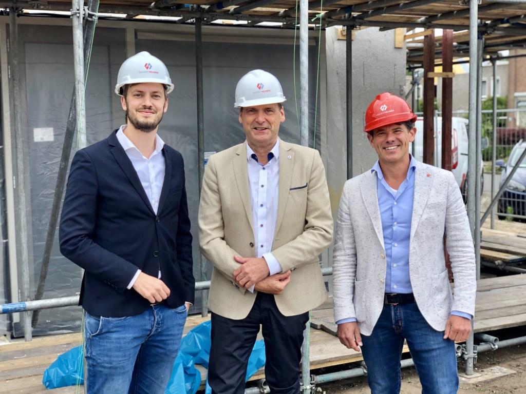 Wethouder Rik Compagne, Jan van Vucht (directeur Area) en   © Kliknieuws Veghel