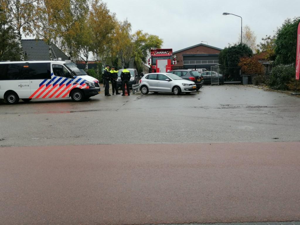 Onderzoek bij transportbedrijf in Berghem.  © 112 Brabantnieuws
