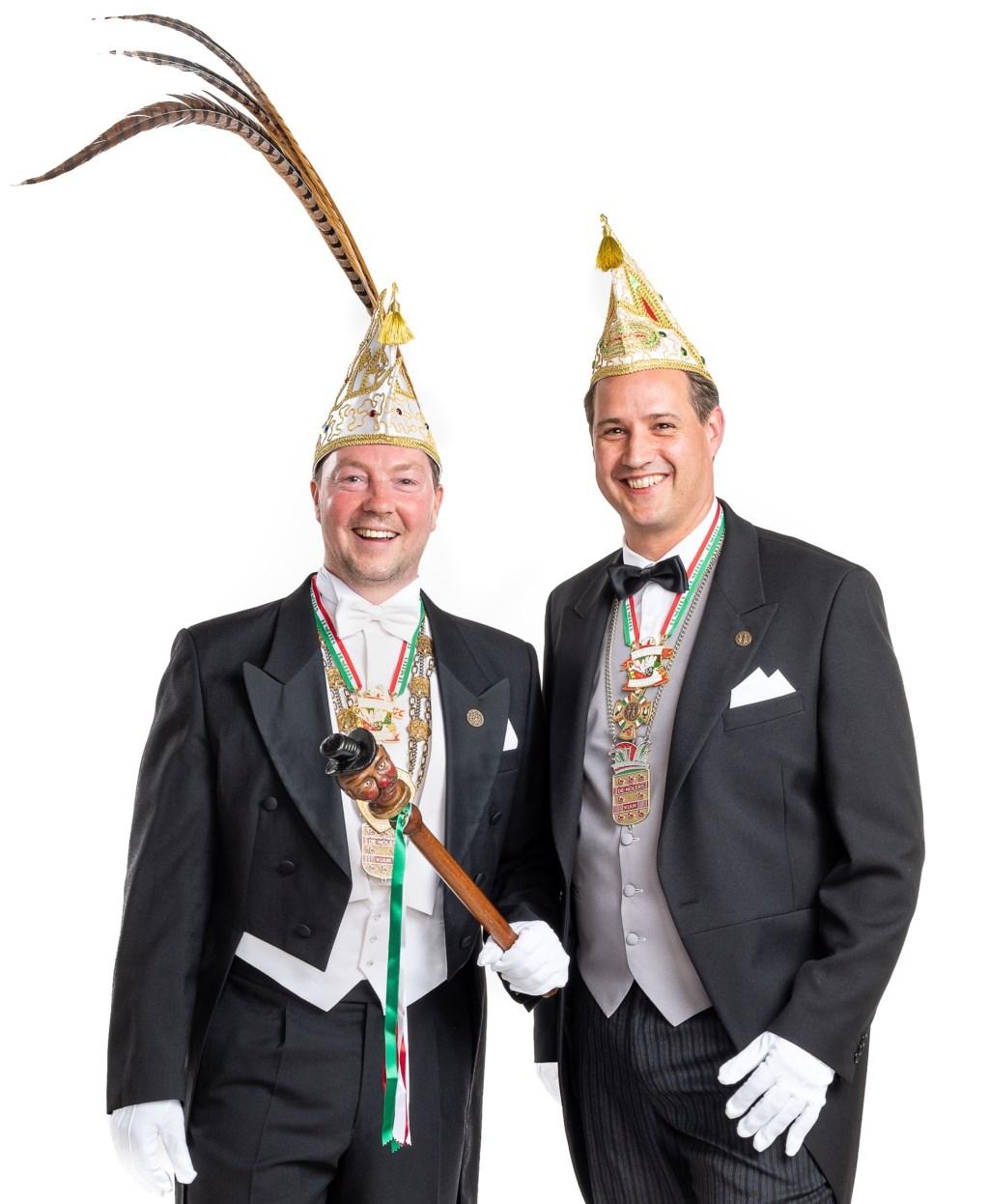 Prins Mark (Geboers) en Adjudant Dries (Hofmans). (foto: Patrick Bongartz)  © Kliknieuws De Maas Driehoek