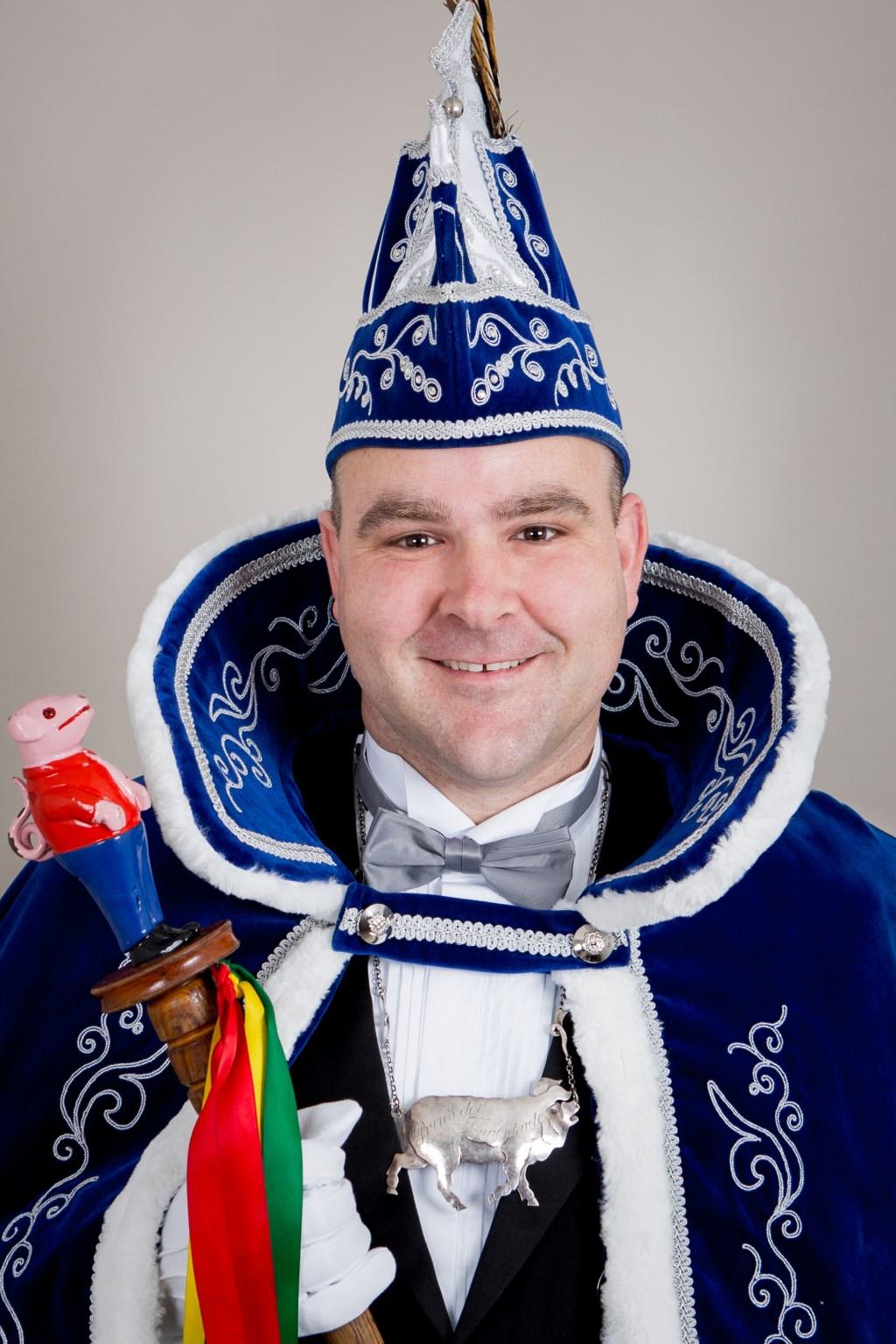 William d'n Örste (Wienhofen) is de nieuwe Prins van de Krölstarte in Middelaar  © Kliknieuws De Maas Driehoek