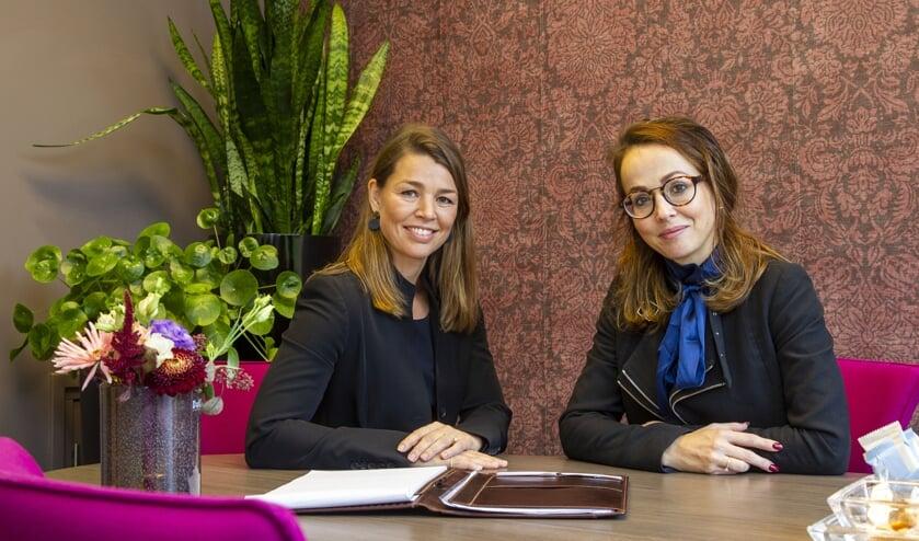 Marjolein Gerrits-van der Aa en Barbara van Dommelen. (foto: Ad van de Graaf)