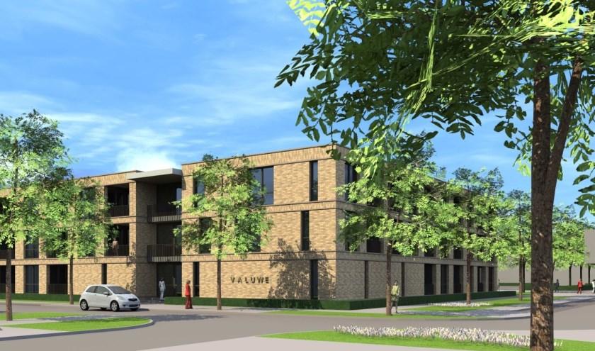 De laatste fase van de revitaliseringvan De Valuwe is nu van start gegaan met de bouw van 27 appartementen door Trebbe.