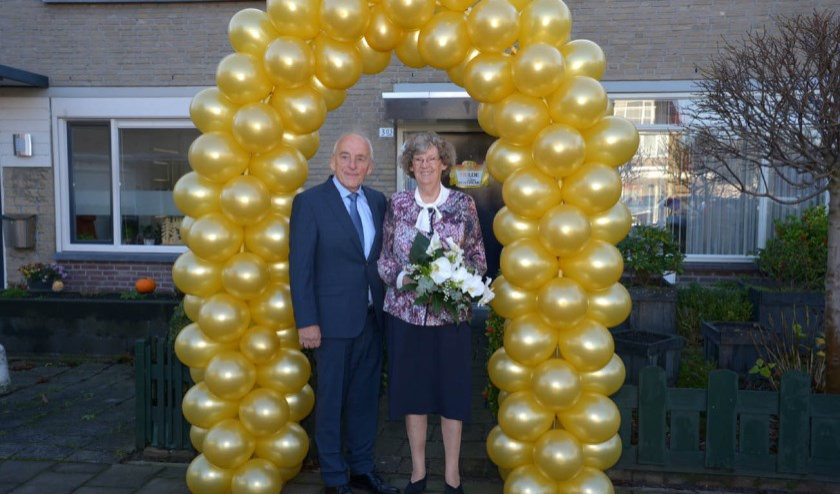 Wim (76) en Ria (75) van der Molen vierden gisteren dubbel feest.