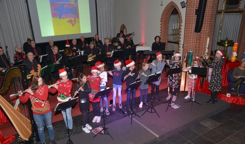 Het kerstconcert vorig jaar. (foto: Henk Lunenburg)