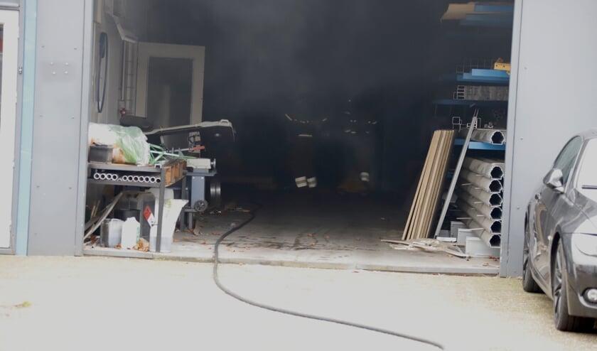 Brand bij bedrijf in Katwijk.