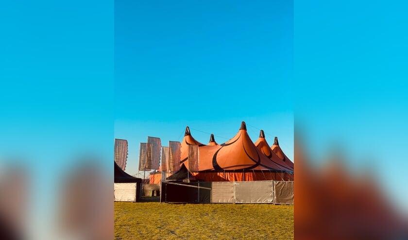 Dit is de tent van dit jaar.