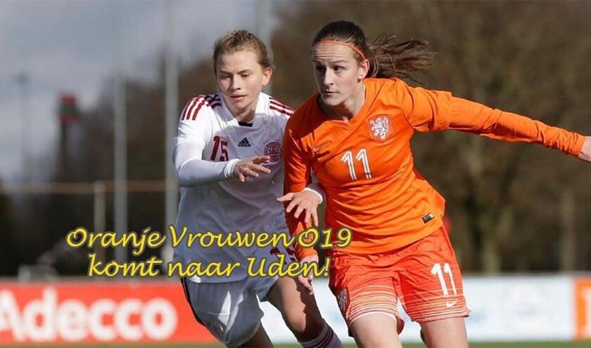 Het Nederlands vrouwenelftal onder 19 jaar speelt drie interlands op het sportpark van UDI'19