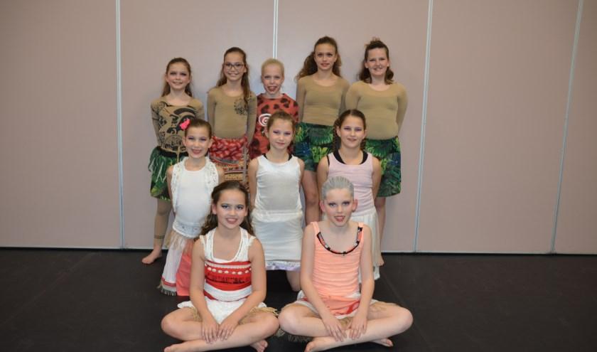 Deze dames behaalden een eerste plaats met het thema 'Vaiana'.