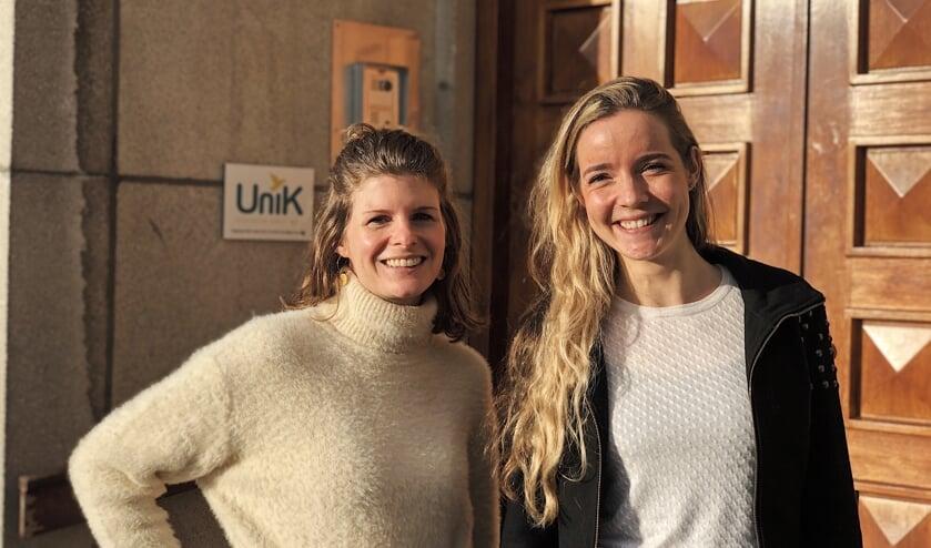 Jolanda van Gerwe van Join us en Yoga docente Ayla den Das maken allebei gebruik van het klooster.