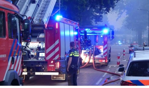 Brand in Geffen. (Foto: Thomas)  © Kliknieuws Oss
